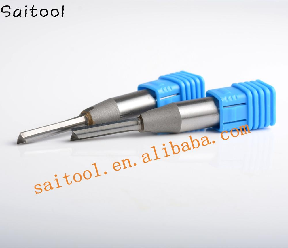 Two Flutes TCT straight bits for wood cutting/carbide solid end mill/CNC router bits/woodworking tools