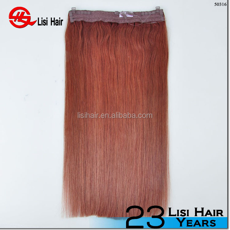 Customized Color European Quality 100% Natural Human Hair Virgin Straight Clip In Hair Extensions Wavy