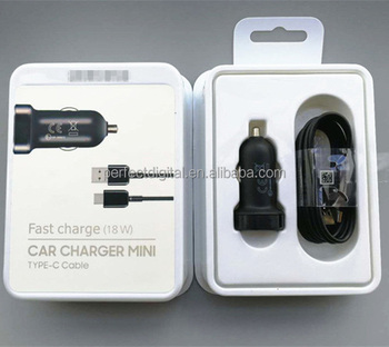 Original Adaptive Fast Car Charger Oem Usb Type C Cable For Samsung Galaxy S8 Plus