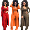 NS3963 African Ladies Fashion Sexy Bodycon 3pcs Plus Size Dress Clothes Sets