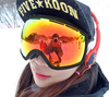 Snowboarding Ski Snowmobile Snow Goggles with Detachable Dual Layer Lens Durable Anti Fogging Anti UV 400 Comfortable Wide V