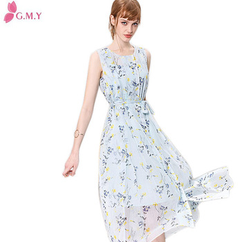 e46d756e9c1 Beautiful Ladies Summer Sleeveless Floral Print Long Frocks Images ...