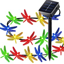 Color Changing Solar Led Christmas Outdoor Garden String Lights