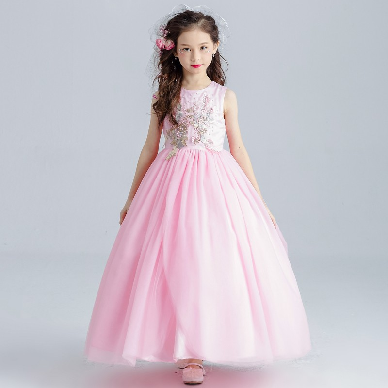 Exclusive Girls Party Dresses Hot Sale Pink 8 Year Old Kids Baby ...