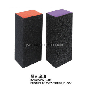 TSZS Orange Black Mini Block Nail Supplies Disposable Nail Buffer