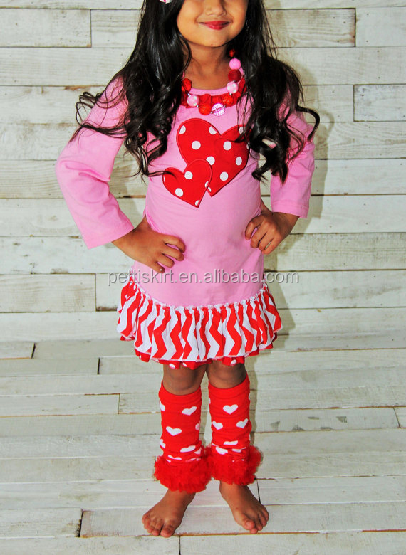 Pink Girls Fall Remakes Clothes Sets Ruffle Long Sleeve Dresses Children's Frocks