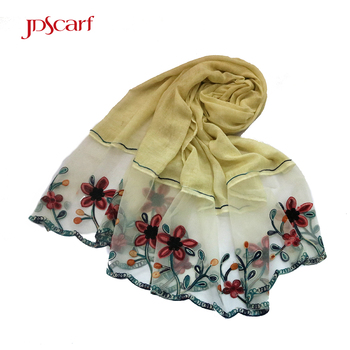 china crimp floral embroidery fashion modern designs kids hijab