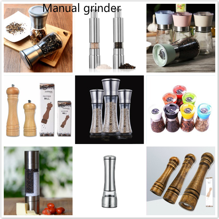 2 in 1 Combo Stainless Steel Salt And Pepper Mill Grinder with Adjustable Coarseness for spice grinder Chef Kitchen Tool