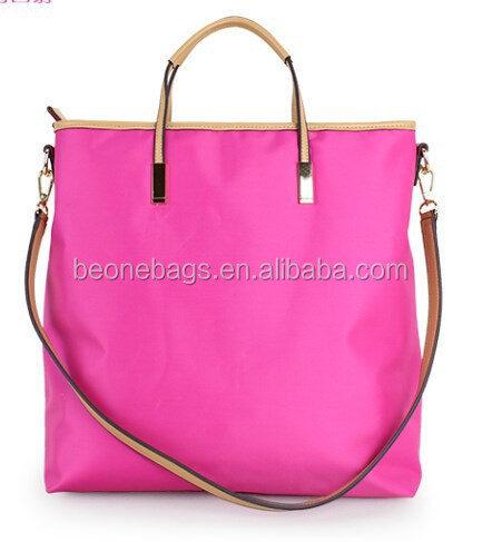 New Products 2015 Fashion Women Nylon Hand Bag