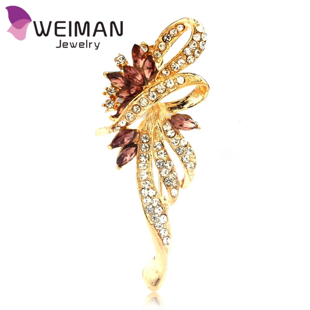 2016 New Brand Fashion Crystal Ancient Ways Rhinestone Brooches For Women