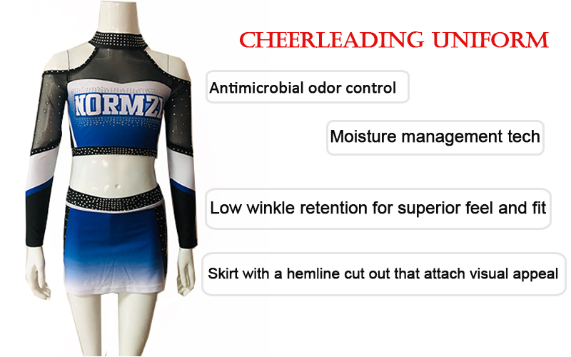 Wholesale lycra plus size customized cheerleading uniforms