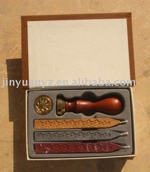 best quality wax seal stamp with rosewood handle for office stationery