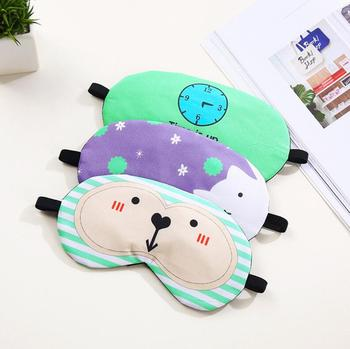 Wholesale cartoon printing design eyepatch cover eye blindfold sleep eye masks
