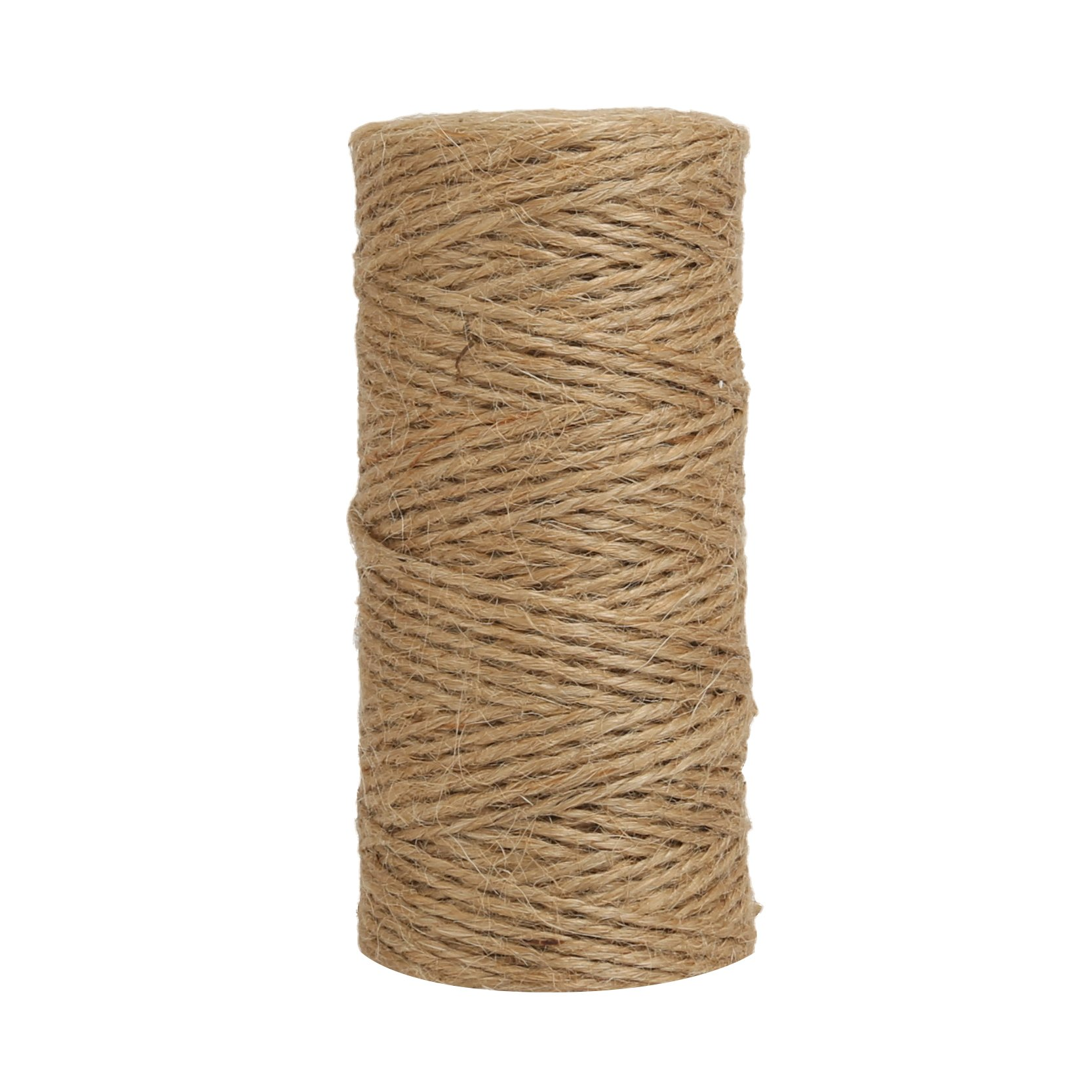 Shintop 100 Feet 6 Ply Natural Jute Twine Best Industrial Packing Materials Heavy Duty Natural Jute Twine for Gift Packing, Arts, Crafts and Gardening Applications
