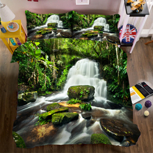 Home Textile China Beautiful Landscape Design 3D Digital Printed Quilt Duvet Cover Baby Crib Bedding Set For Kids