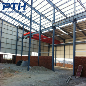 Security big temporary glavnized two story steel structure warehouse