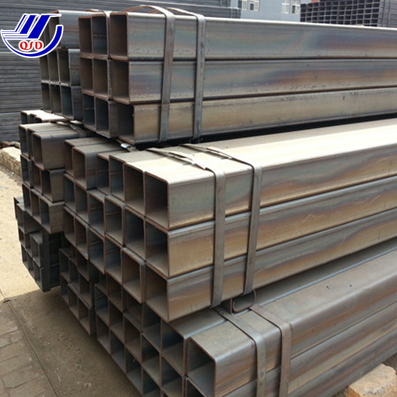 Q345B black rectangular Tube China supplier, unit weight of circular hollow section pipe