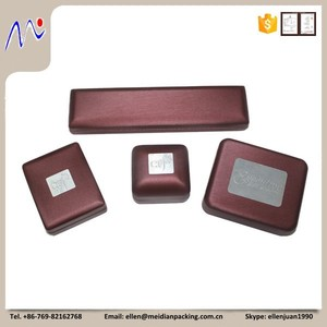 Custom Leather Jewelry Gift Boxes with Metal Plate