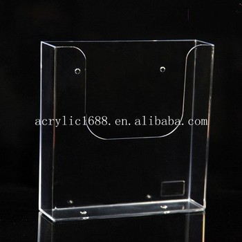 Clear acrylic wall mount certificate holder