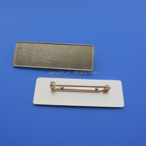 Gold Blank Name Tag Badge With Safety Pin/ID Name Plate Tag-Blank