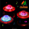 Rotating flash toy music magic peg-top in led flashing gyro