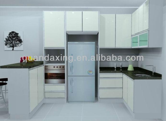 Moderno melamina modelo del gabinete de cocina con for Gabinetes de cocina en melamina