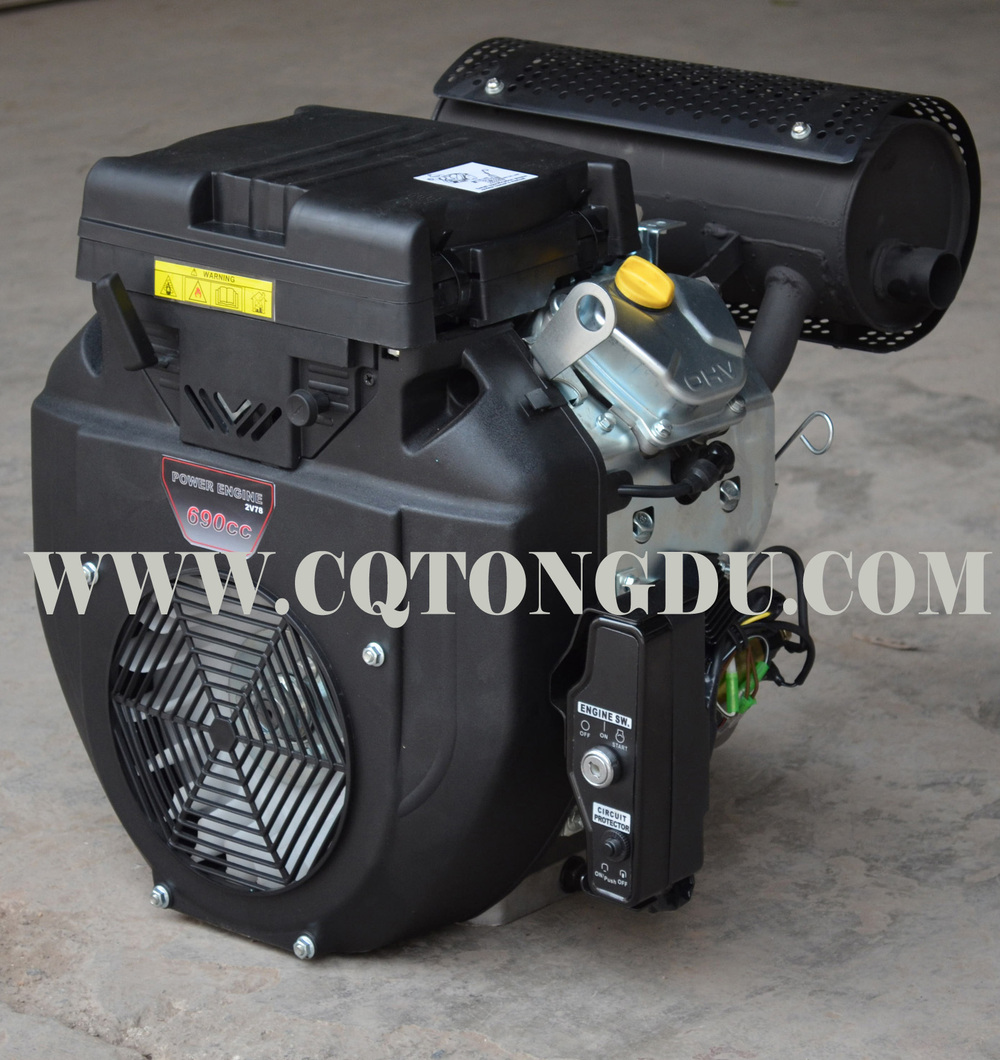 V Twin 2 Cylinder Engine 678cc Gasoline Motor Air Cooling Four ...