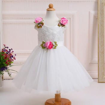 868428720 Champagne Rustic Flower Girl Dress Puffy Blossom Slip Frock Church Dress  Blessing Gown
