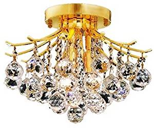 Elegant Lighting 8000F12G/EC Cut Clear Crystal Touareg 3-Light, Single-Tier ..#G4E435T1 34452-3T470149
