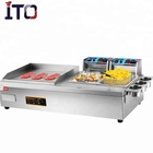 electric deep fryer with griddle
