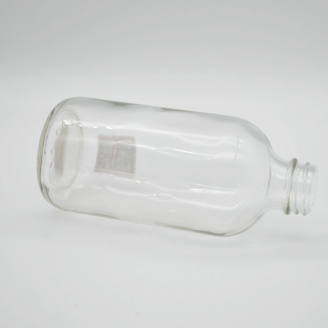 8 OZ CLEAR BOSTON ROUND BOTTLES