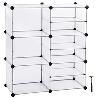 DIY Cube Storage, Interlocking Plastic Cubes Organizer with Divider Design, Modular Closet Cabinet