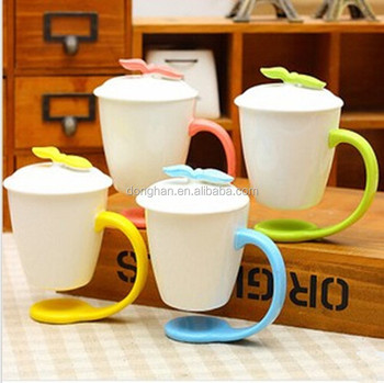 hot products for 2016 Ceramic Suspending Mug with Special Base Handle