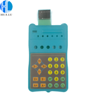 membrane electronic keypad long cable membrane flat button switch with connector
