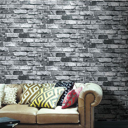 faux stone brick wallpaper - photo #31