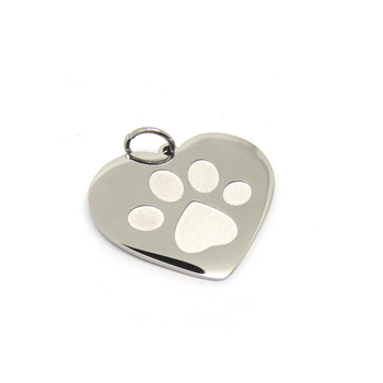 Lovely pet jewelry stainless steel engraved dog paw pendant dog lovely pet jewelry stainless steel engraved dog paw pendant dog tag wholesale aloadofball Image collections