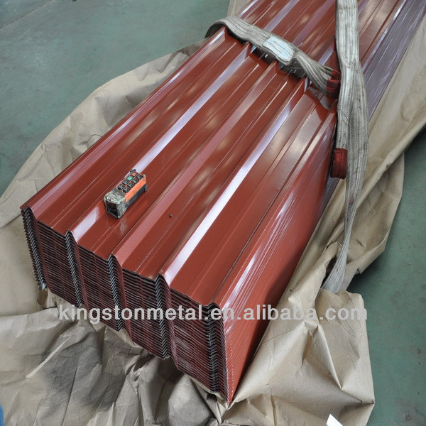 Color coated raw material for corrugated roofing sheet