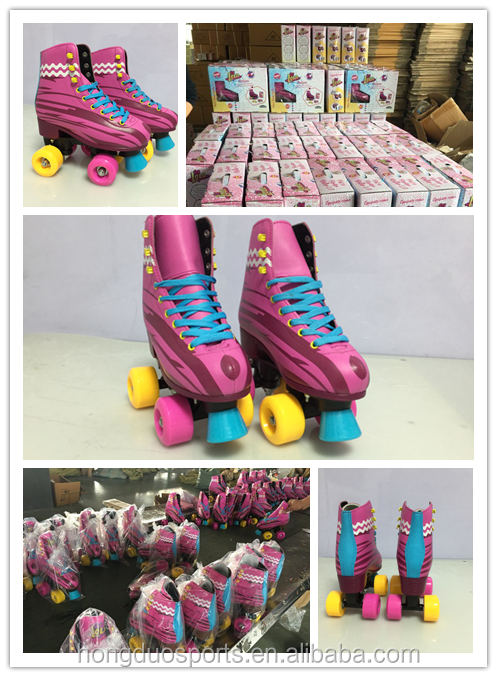 Hot sale double row quad skates roller with EN71-3 Certificate