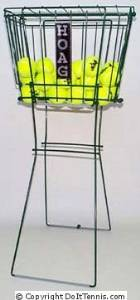HOAG 100 Ball Basket with Lid, Available in Green or Silver