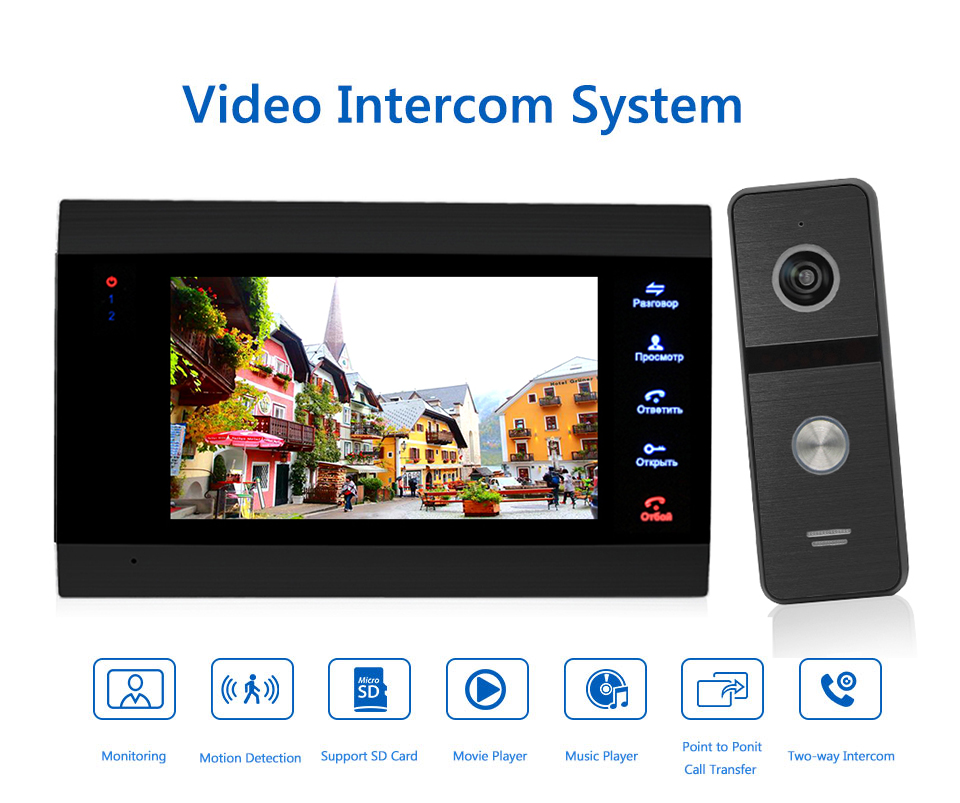 Bcomtech New launched smart phone control hd video doorbell with IP65 waterproof and Motion decection