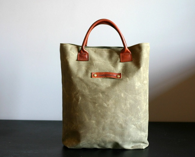 Hot sale and high quality vintage style canvas tote leather handle