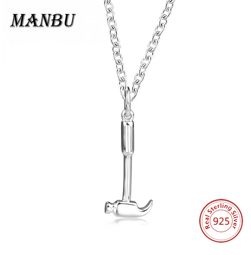 925 sterling silver hammer shape necklace <strong>jewelry</strong> JP22499-P