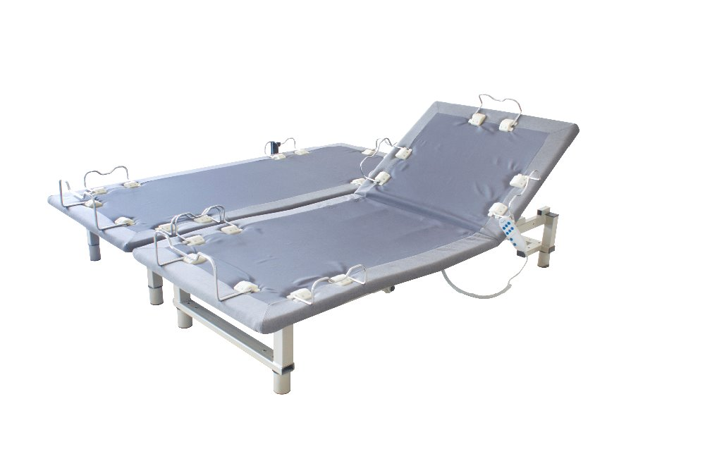 2015 new design adjustable bed double twin base