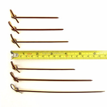 natural bamboo looped skewer/ knot picks