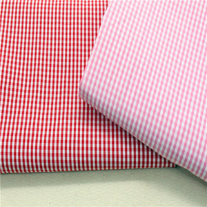 100% polyester stripe/checks woven fabric wholesale for T-shit new yarn dyed Gingham Check fabrics 1/2, 1/4, 1/8...1/24