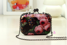 New 2015 Mini Evening Bag Fashion Candy Color Women Messenger Bags Day Clutch Long Chain Shoulder