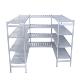 New Design HDPE+ Aluminum rustless plastic storage shelf rack metal shelving
