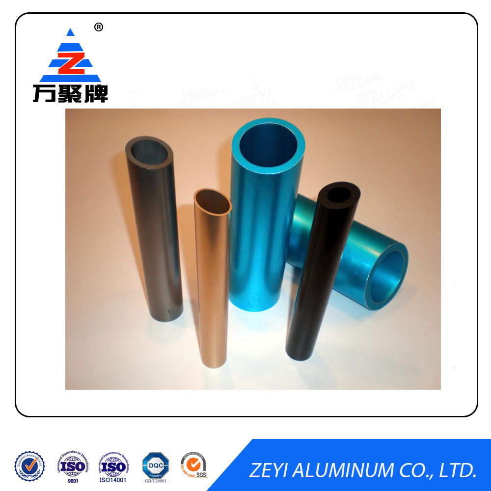 Color anodized 60mm aluminum oval pipe tube