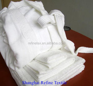 cotton robe, 100% Cotton terry unisex bath robe for four seasons