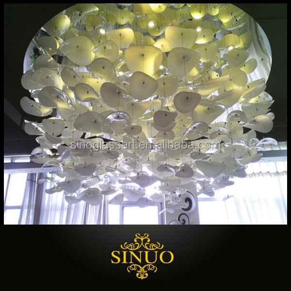 Modern decorative murano glass hanging ceiling lighting